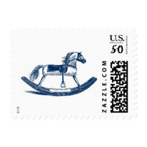 Blue Rocking Horse Postage