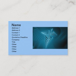 Blue Rod of Asclepius Business Card