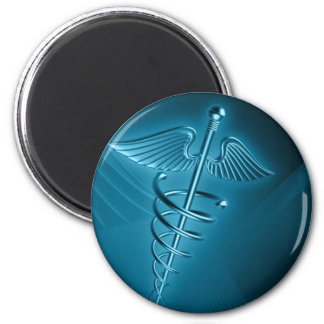 Blue Rod of Asclepius Magnet