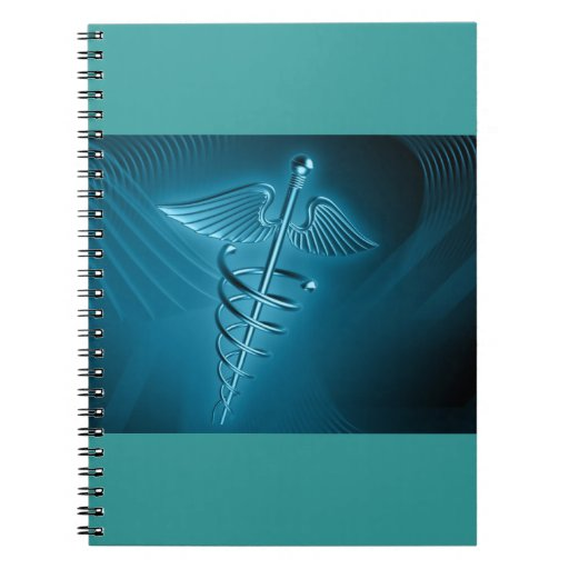 Blue Rod of Asclepius Notebook
