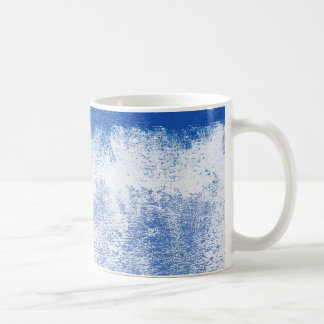 Blue rolled paint mugs