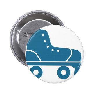Blue Roller Skate Icon Button