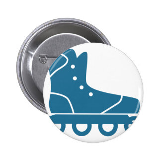 Blue Rollerblade Icon Button