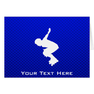 Blue Rollerblading Card