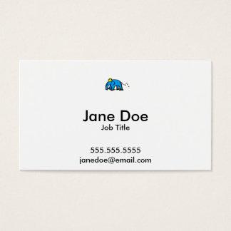 Blue Rollerblading Elephant w/ Yellow Helmet Business Card