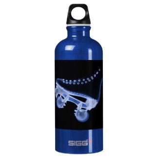 Blue Rollerskate Xray Aluminum Water Bottle