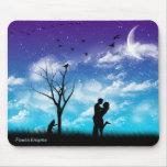 Blue Romance Mouse Pad