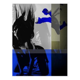 Blue Romance Postcard