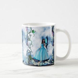 Blue Romantic Butterfly Fairy Coffee Mug