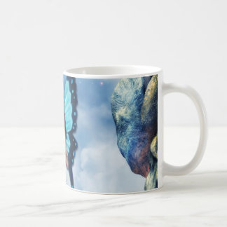 Blue Romantic Butterfly Fairy Coffee Mug V. 2