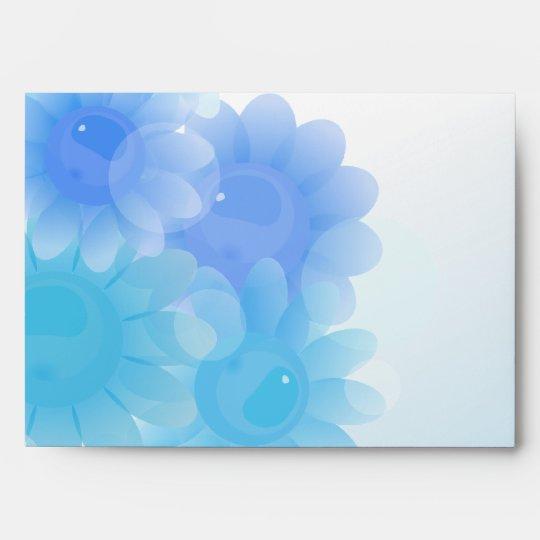 Blue romantic vintage flowers envelope