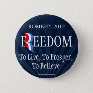 Blue Romney Freedom Lapel Pin Button