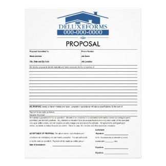 Blue Roof Proposal Letterhead