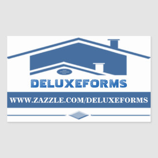Blue Roof Rectangular Sticker