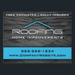 "Blue Roofing Professional Yard Sign Medium<br><div class=""desc"">Roofing themed professional business yard sign by WRKDesigns. Matching products and additional colors available.</div>"