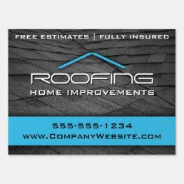 Blue Roofing Professional Yard Sign Medium