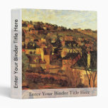 Blue Roofs At Rouen By Gauguin Paul (Best Quality) Binder