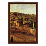 Blue Roofs At Rouen By Gauguin Paul (Best Quality) Greeting Card