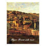 Blue Roofs At Rouen By Gauguin Paul (Best Quality) Flyers