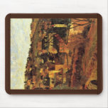 Blue Roofs At Rouen By Gauguin Paul (Best Quality) Mouse Pad