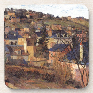 Blue roofs of Rouen by Paul Gauguin Drink Coaster