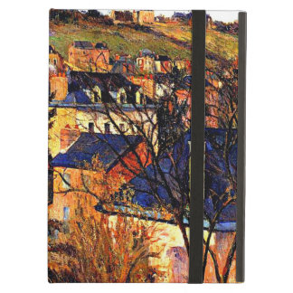 Blue Roofs of Rouen, Paul Gauguin painting Cover For iPad Air