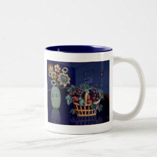 'Blue Room #3' Two-Tone Coffee Mug
