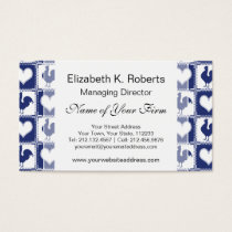 Blue Rooster American Country Farm Pattern Business Card