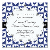 Blue Rooster American Country Farm Pattern Invitation