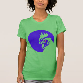 Blue rooster animation illustration T-Shirt