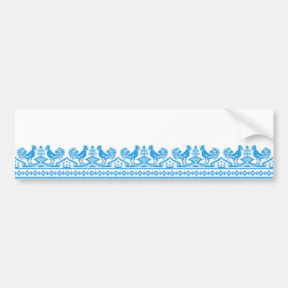 Blue Rooster cross-stitch Bumper Sticker