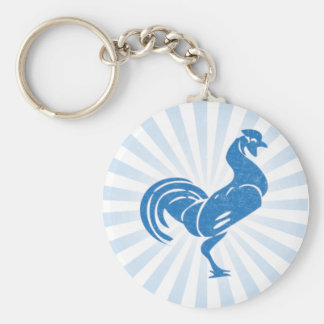 Blue Rooster Keychain