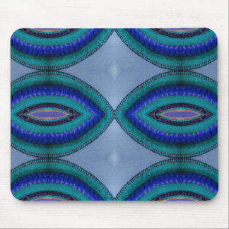 blue rope abstract mouse pad
