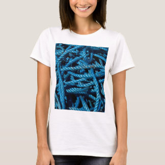 Blue Rope Fitted White Tee Shirt
