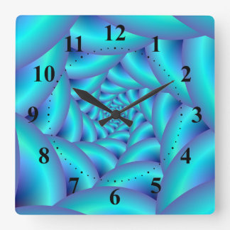 Blue Rope Spiral Wall Clock