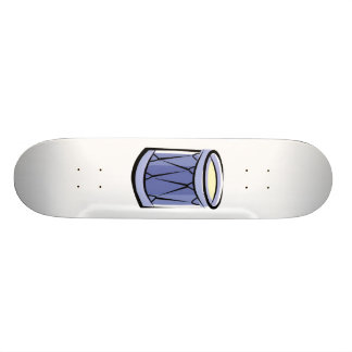 Blue Rope Tension Drum Abstract Vintage image Skateboard