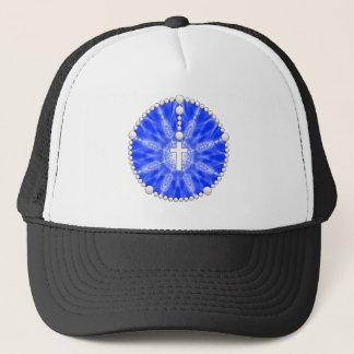 Blue Rosary Dream Catcher Trucker Hat