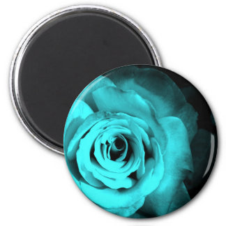 Blue Rose 2 Inch Round Magnet