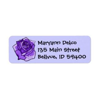 Blue Rose Address Label