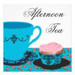 Blue Rose Afternoon Tea Custom Invitation