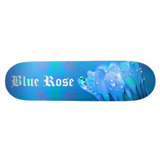 Blue Rose background Customizable text Skateboard Deck