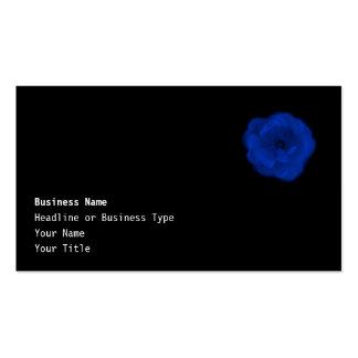 Blue Rose, Black Background. Business Card Template