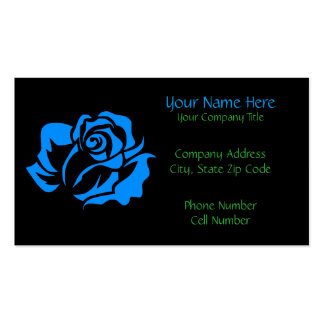Blue Rose Bloom Customizable Business Card
