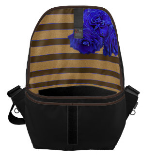 Blue Rose & Bronze - Messenger Bag