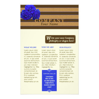 Blue Rose & Bronze - Product/Service Flyer