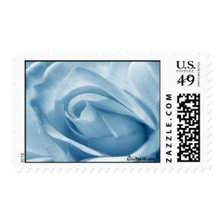 Blue Rose Bud Wedding Postage