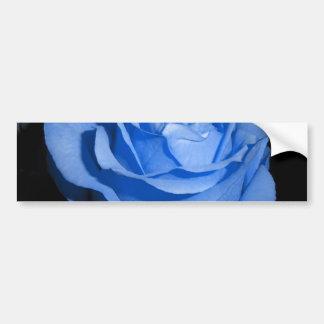 Blue Rose Car Bumper Sticker