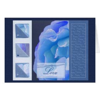 Blue Rose - card design