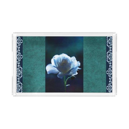 Blue Rose Classic Design Vanity Tray Zazzle