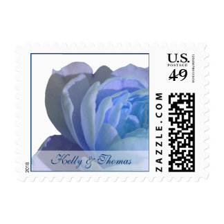 Blue Rose Custom Wedding Postage